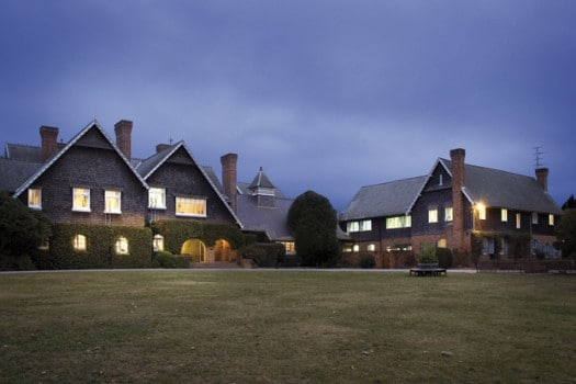 Tudor House, Grounds at sunset
